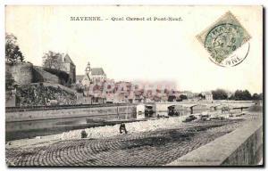 Old Postcard Mayenne Quai Carnot and New Bridge
