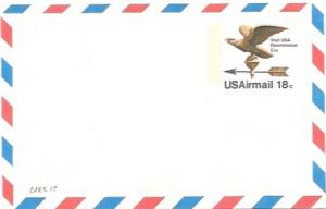 UXC15  Air Mail Postcard