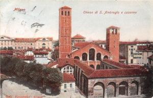 Italy Milano Chiesa di S. Ambrogio e Caserme, Church Partial view Eglise
