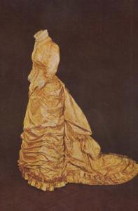 Victorian Silk Wedding Dress in Kings Lynn Museum Norfolk Postcard