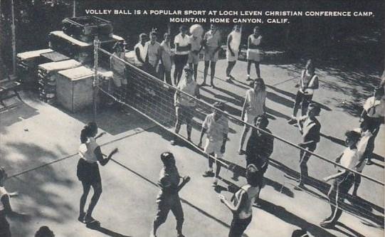 Volley Ball Is A Popular Sport At Loch Leven Christian Conference Camp Mounta...