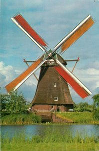 Netherlands drainage mills of the Kinderdijk complex postcard
