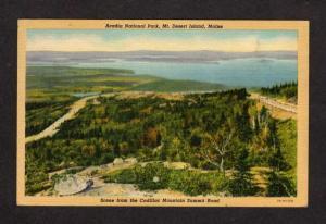 ME Acadia National Nat Park Mt Desert Island Cadillac Bar Harbor Maine Postcard
