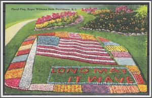 Rhode Island Providence 1948 Floral Flag Roger William Park