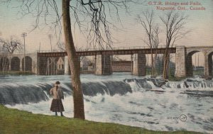 NAPANEE, Ontario, Canada, 1900-10s; Grand Trunk Railroad Bridge and Falls