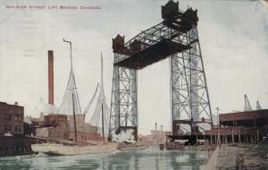 CHICAGO , Illinois , PU-1912 ; Halsted Street Lift Bridge