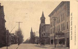 E81/ Martins Ferry Ohio Postcard 1910 North Fourth Street Hoge Store 11