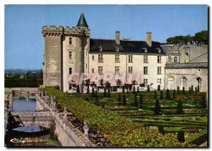 Modern Postcard Villandry I and L Chateau moat and Garden Ornament