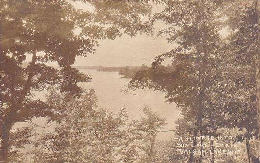 Glimpse Into Big Lake Dixie Balsam Lake Wisconsin Real Photo