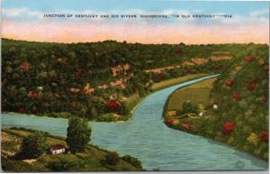 postcard KY - Kentucky and Dix River junction, Highbridge