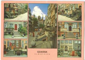Poland, GDANSK, Ul. Mariacka, 1996 used Postcard