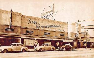 Hollywood CA Vine Street Tom Breneman's Restaurant RPPC Postcard