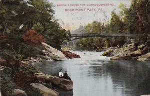 Pennsylvania Rocky Point Park Bridge Across The Connoquenessing 1910