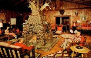 Arizona Mesa Sahuaro Lake Ranch Famous Foursided Fireplace 1969
