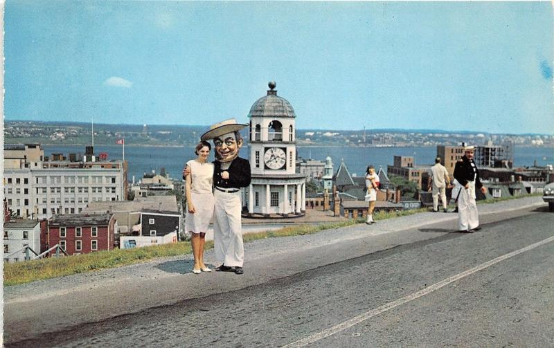 Halifax Nova Scotia~Jolly Tar Welcomes Pretty Lady to Citadel on Natal Day~1950s