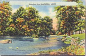 GREETINGS from GAYLORD Minnesota 1940s