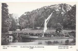 Berkshire Postcard - On The Thames - A Sailing Barge at Sonning c1905 - A6001