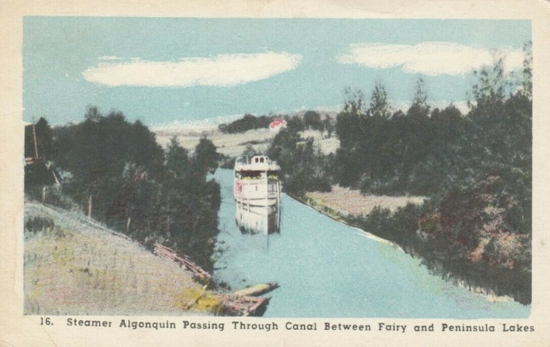 ONTARIO, 00-10s; Steamer Algonquin Passing through Canal Between Fairy and Penin