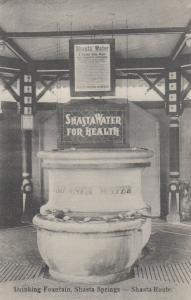 SHASTA SPRINGS, California, 00-10s; Drinking Fountain, Shasta Railroad Route