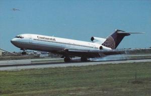 Continental Airlines Boeing B-727-232 Advanced At Stapleton International Air...