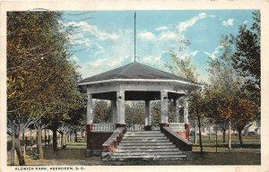 G45/ Aberdeen South Dakota Postcard 1920 Aldrich Park Gazebo