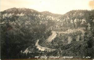 1940s Oak Creek Canyon Arizona RPPC real photo postcard 1150