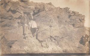 D31/ Colorado Springs Real Photo RPPC Postcard 1910 Two Lovers Rocks Geology