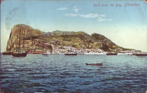 GIBRALTAR - FAMOUS ROCK in an early view... 1900s
