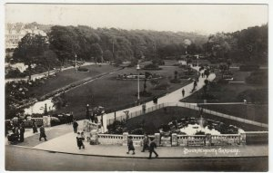 Dorset; Bournemouth Gardens RP PPC, c 1920's, Note Charabanc Tour Signs
