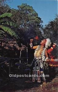 CHROME ERA (1939 to present day) Seminole Indians, Florida USA Postcard India...