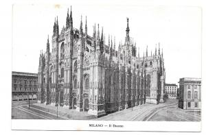 Italy Milano Il Duomo Milan Cathedral Vtg Postcard