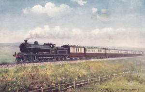 UK Railroad Train ; SCOTCH EXPRESS on Ship Summit , 00-10s ; TUCK