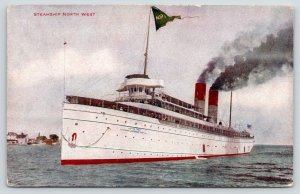 Great Lakes Passenger Ship~Steamer North West~Northern Steamship Co~c1910