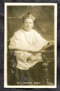5354 - Canada Quebec 1910s Catholic Cardinal Begin. Real Photo Postcard