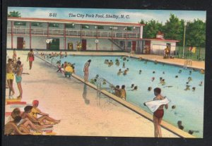 North Carolina colour PC the City Park Pool, Shelby, N.C.  unused
