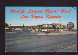 LAS VEGAS NEVADA STARDUST WORLD'S LARGEST RESORT HOTEL ADVERTISING POSTCARD