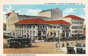 F29/ St Petersburg Florida Postcard c1915 Plaza Theatre Englewood Hotel