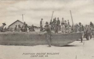 CAMP LEE, Virginia, 1910-20s; Pontoon Bridge Building