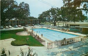 Biloxi Mississippi~Trade Winds Hotel Court~East Beach~Pool~Smart Restaurant~1950