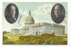 WASHINGTON D.C., 1900-10s; President Taft & Vice Sherman, Capitol Building