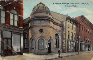 E84/ Salem Columbiana Co Ohio Postcard 1911 Citizens Savings Trust Bank 3