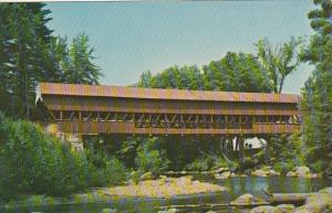 Covered Bridge Over Swift River Conway New Hamshire