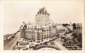 Chateau Frontenac, Quebec City, Quebec, Canada, early real photo postcard