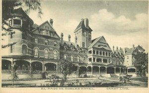 Hotel El Paso Robles 1908 San Luis Obispo Paso Robles California Postcard 12862