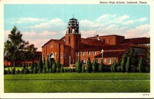 Texas Lubbock Senior High School Curteich