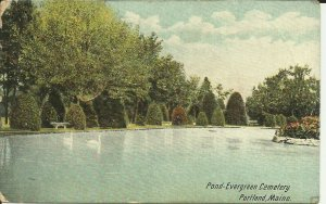 Pond- Evergreen Cemetery, Portland, Maine