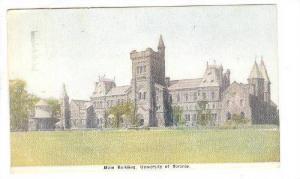 Exterior, Main Building, University of Toronto, Canada,  PU-00-10s