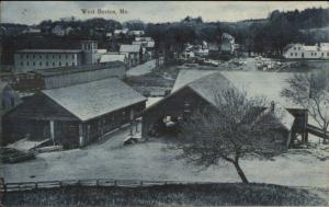 West Buxton ME General View of Town c1910 Postcard