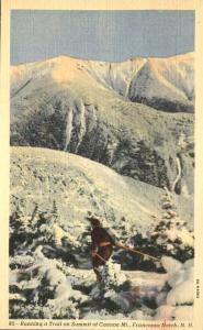 Skier on Cannon Mountain - Franconia Notch, White Mountains, New Hampshire Linen
