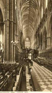 UK - England, Westminster Abbey, Looking West